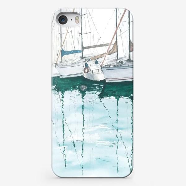 Чехол iPhone «Морская серия: Яхты в порту»