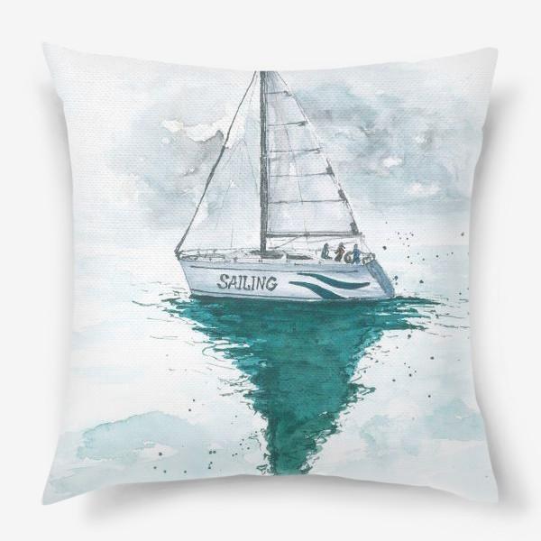 Подушка «Морская серия: Яхта»