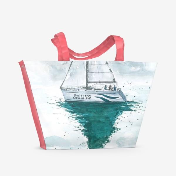 Пляжная сумка «Морская серия: Яхта»