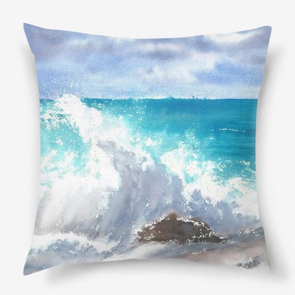 Подушка «Морской пейзаж. Волна»