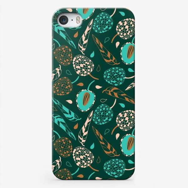 Чехол iPhone «Нежные ягоды и листья»