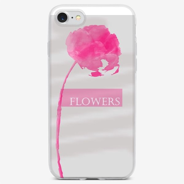 Чехол iPhone «FLOWERS grey»