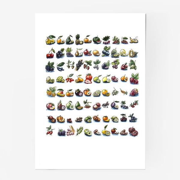 Постер «фруктовый алфавит»