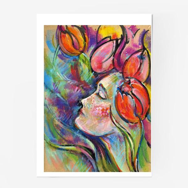 Постер «Девушка тюльпан»
