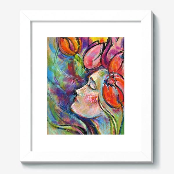 Картина «Девушка тюльпан»