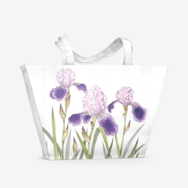 Пляжная сумка «Ирисы 2»