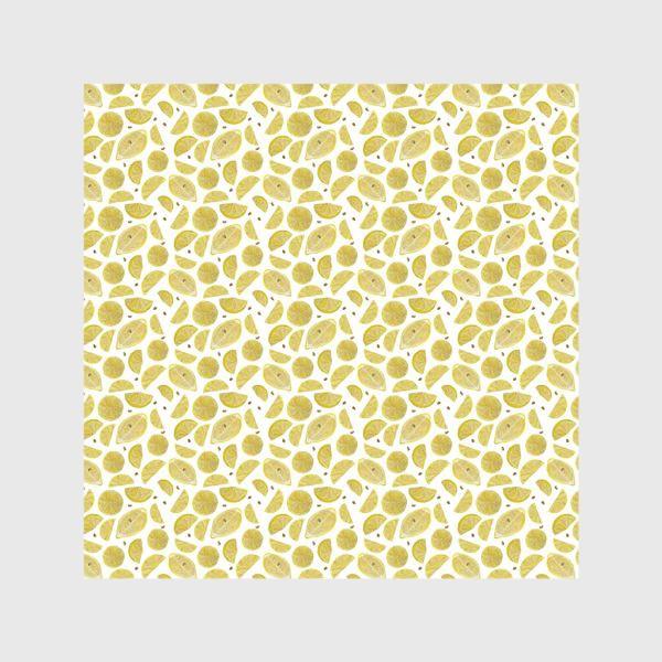 Шторы «Сочные лимоны паттерн»