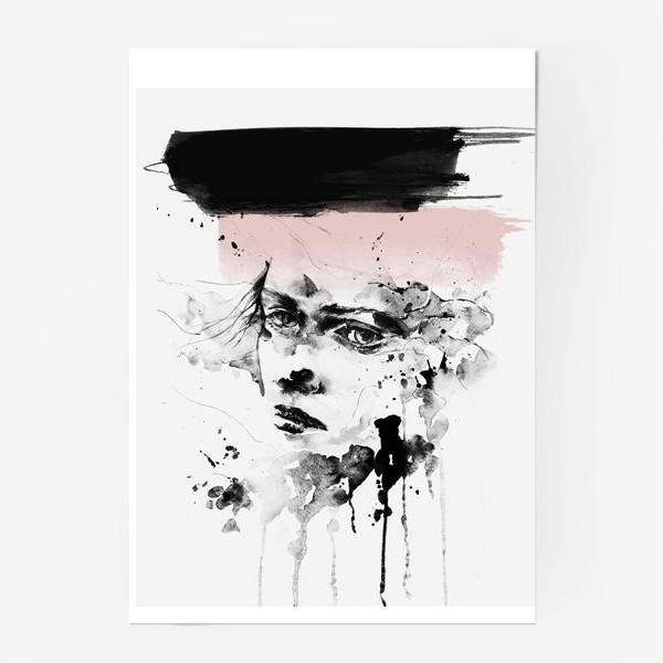 Постер «Девушка Акварель Скандинавский стиль»