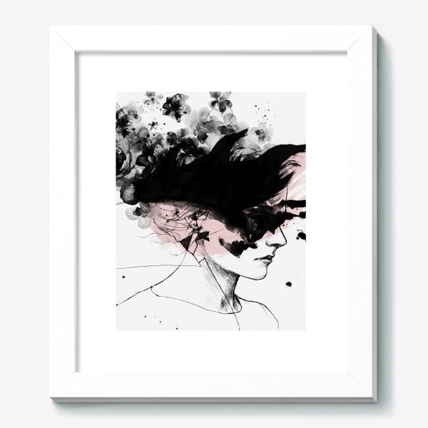 Картина «Девушка Акварель Скандинавский стиль»