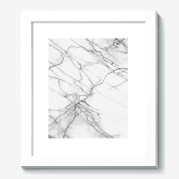 Картина «Мрамор серый современный скандинавский принт»