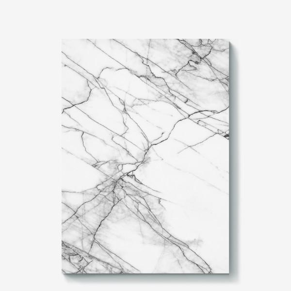 Холст «Мрамор серый современный скандинавский принт»
