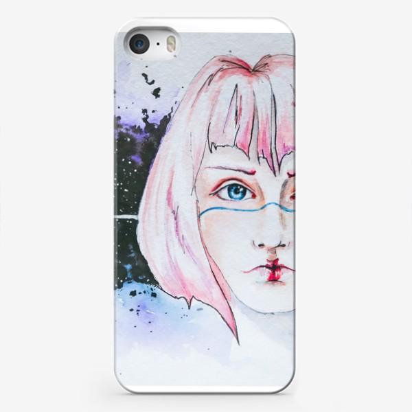 Чехол iPhone «Девушка из космоса»