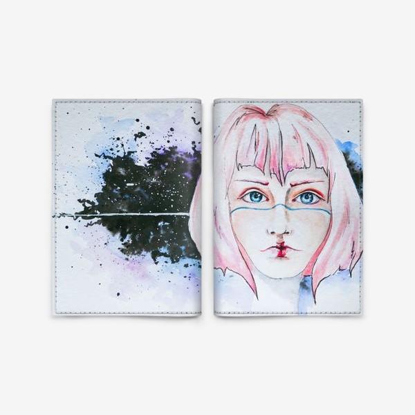 Обложка для паспорта «Девушка из космоса»