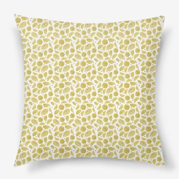 Подушка «Сочные лимоны паттерн»