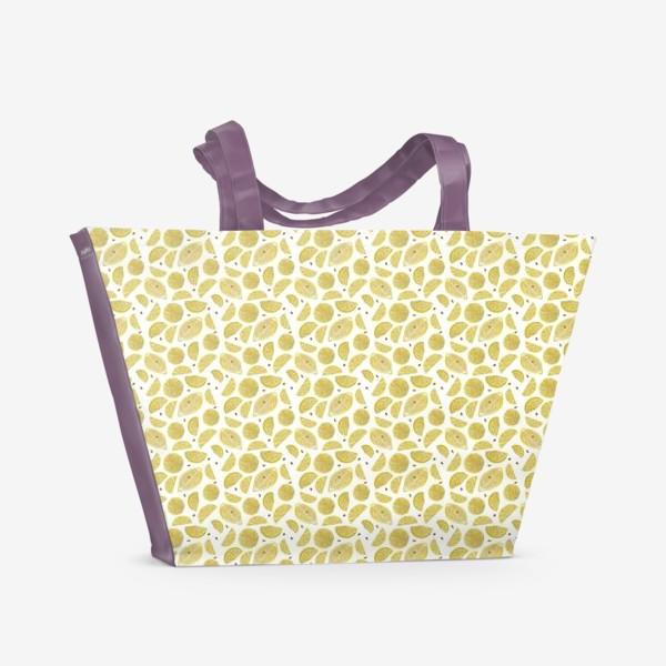 Пляжная сумка «Сочные лимоны паттерн»
