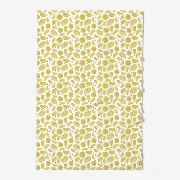 Полотенце «Сочные лимоны паттерн»