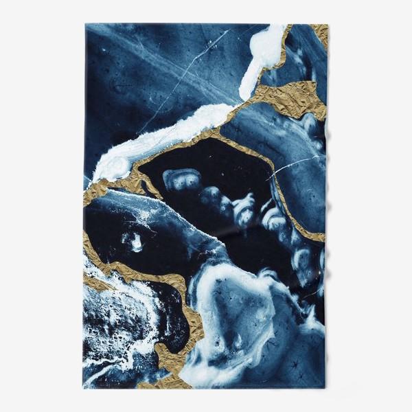 Полотенце «Абстракция Темно синий разводы»