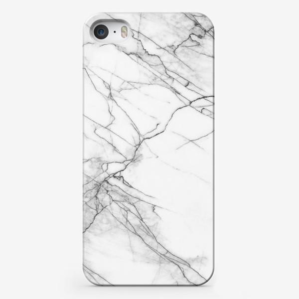 Чехол iPhone «Мрамор серый современный скандинавский принт»