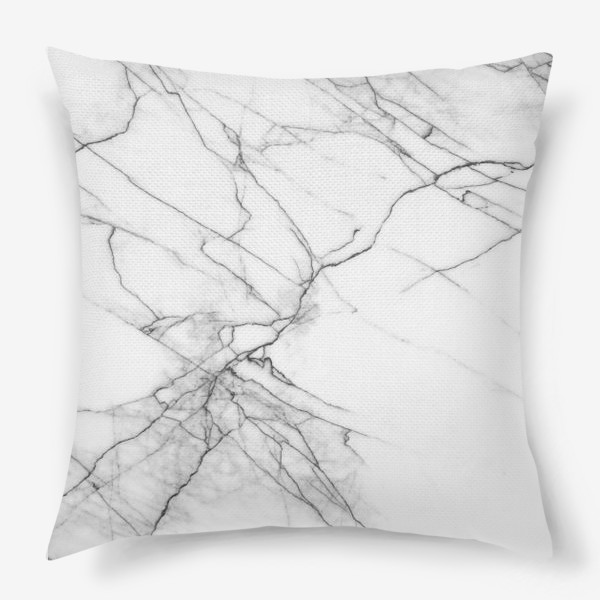 Подушка «Мрамор серый современный скандинавский принт»