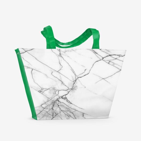 Пляжная сумка «Мрамор серый современный скандинавский принт»