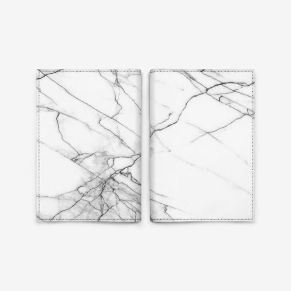 Обложка для паспорта «Мрамор серый современный скандинавский принт»