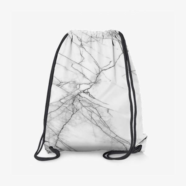 Рюкзак «Мрамор серый современный скандинавский принт»