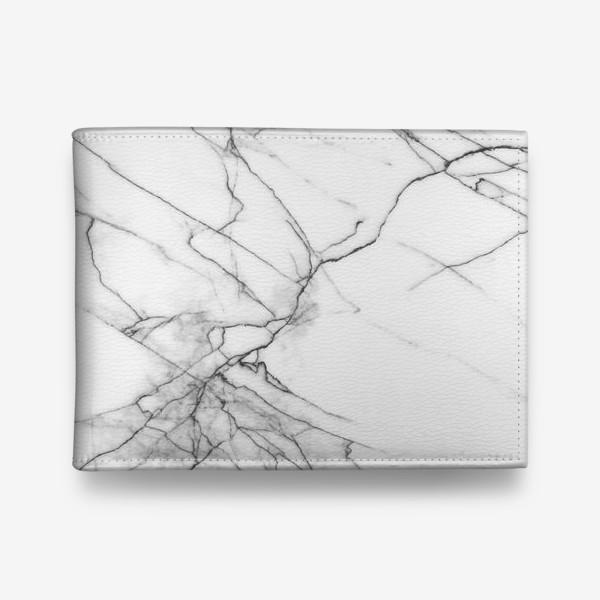 Кошелек «Мрамор серый современный скандинавский принт»