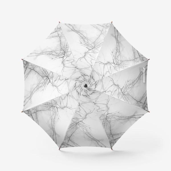 Зонт «Мрамор серый современный скандинавский принт»