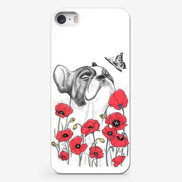 Чехол iPhone «Бульдог в маках»