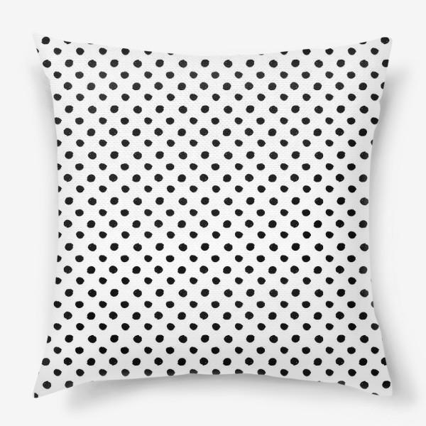 Подушка «Черно белый цвет тиффани горошек прованс»