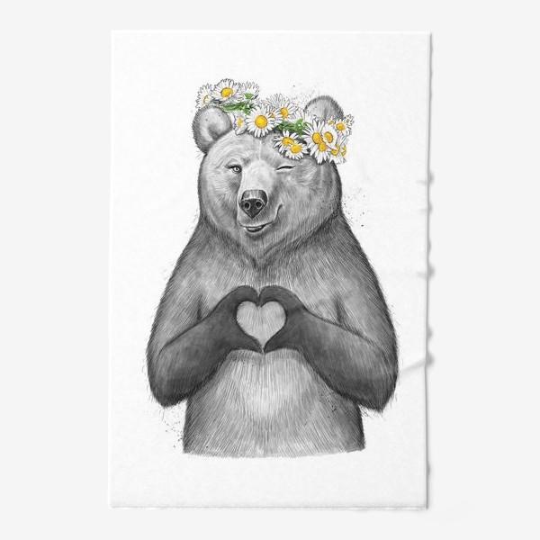 Полотенце «Медведица с сердцем»