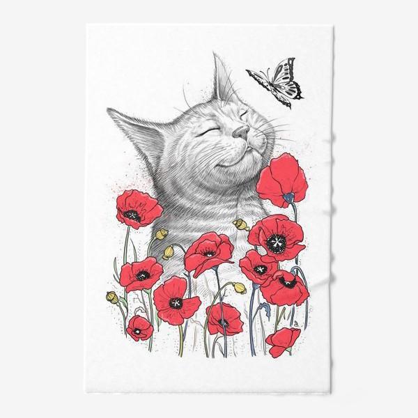 Полотенце «Кошка в Маках»