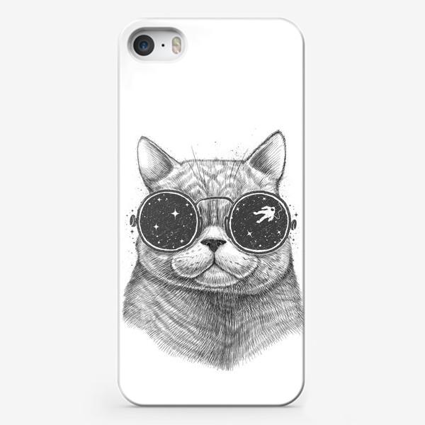 Чехол iPhone «Кот в космических очках»