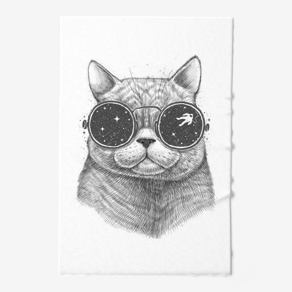 Полотенце «Кот в космических очках»