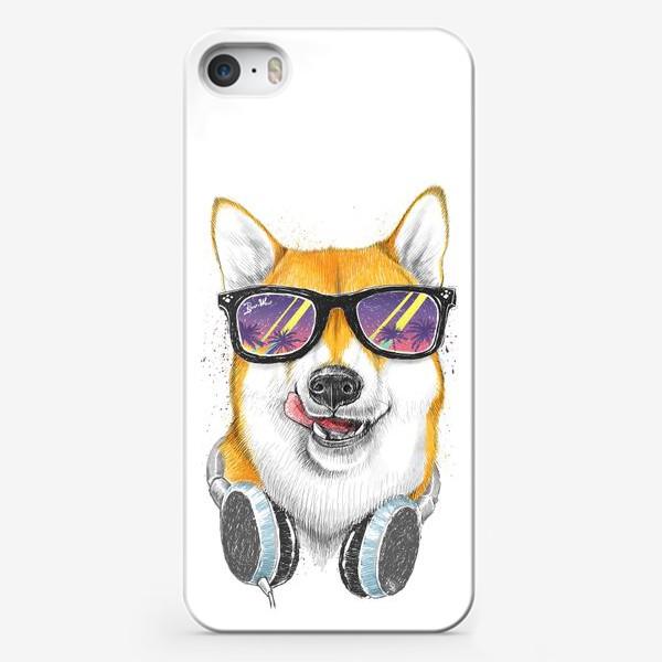 Чехол iPhone «Сиба ину в очках»