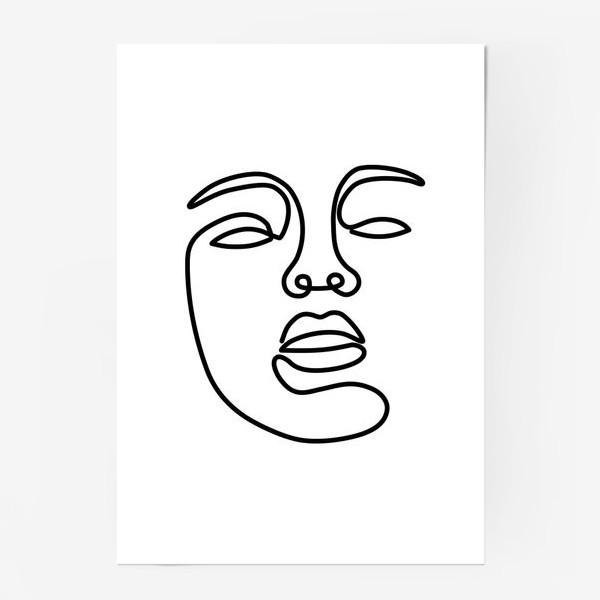 Постер «Лицо одной линией»