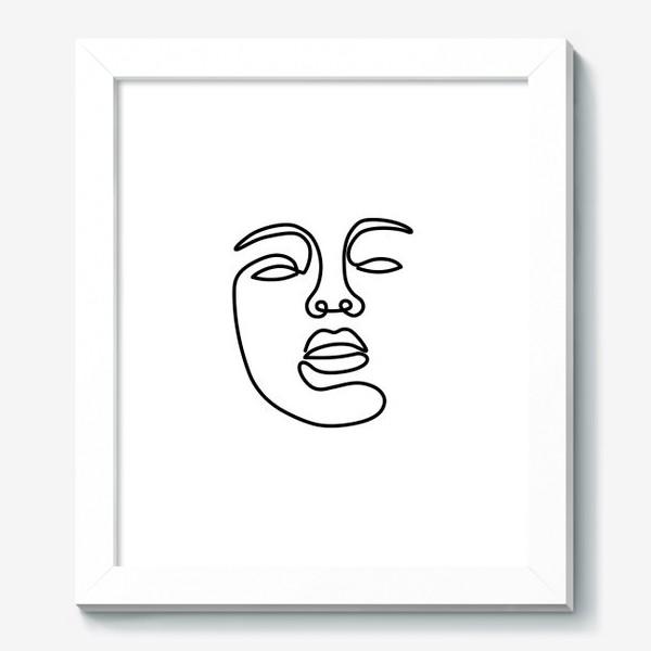 Картина «Лицо одной линией»