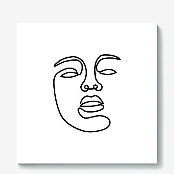 Холст «Лицо одной линией»