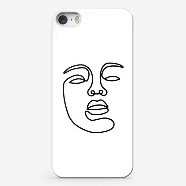 Чехол iPhone «Лицо одной линией»