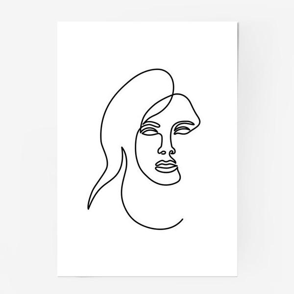 Постер «Девушка. Одна линия»
