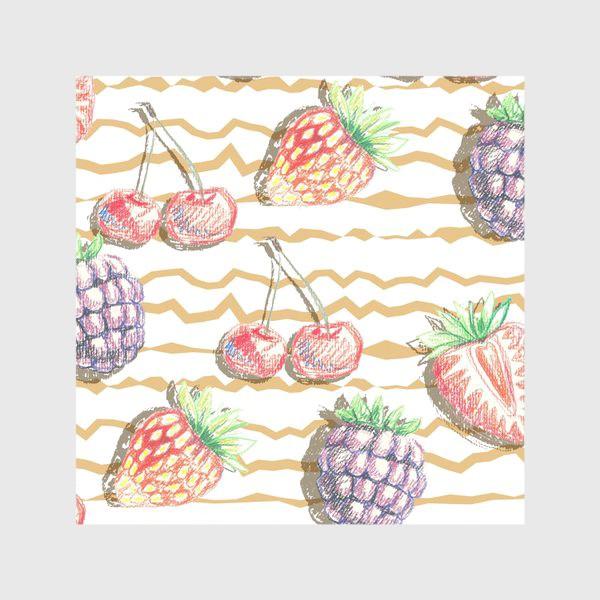 Скатерть «Фрукты, нарисованные карандашом»