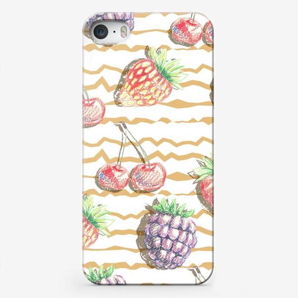 Чехол iPhone «Фрукты, нарисованные карандашом»