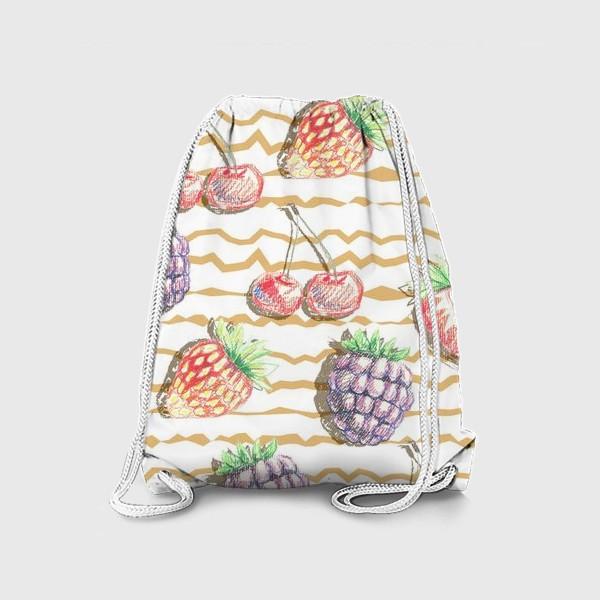 Рюкзак «Фрукты, нарисованные карандашом»
