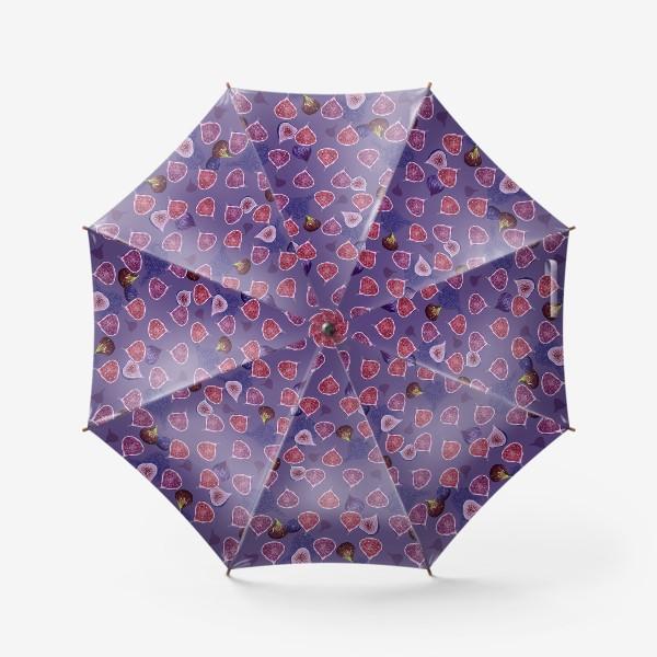 Зонт «Веселый фиолетовый инжир!»