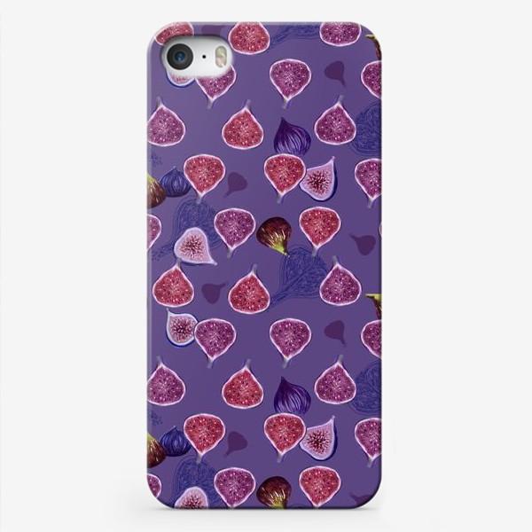 Чехол iPhone «Веселый фиолетовый инжир!»