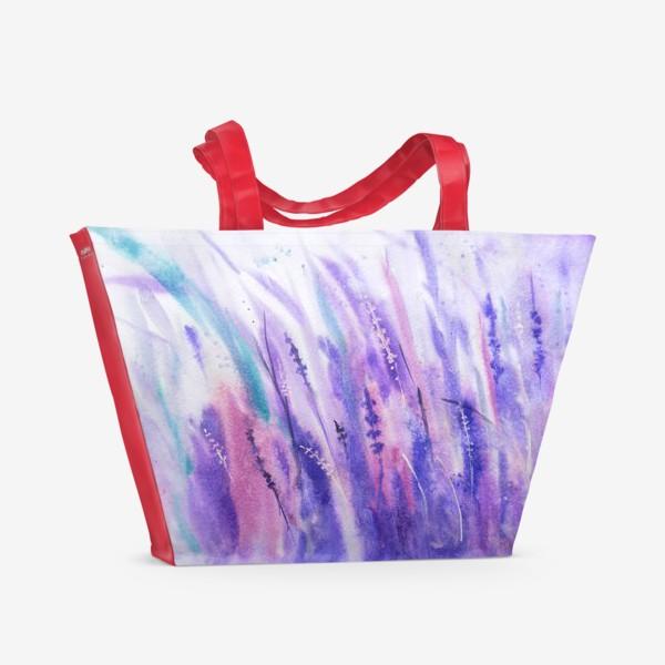 Пляжная сумка «Лавандовое поле»