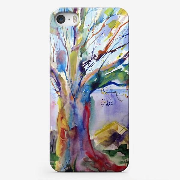 Чехол iPhone «Цветное дерево»