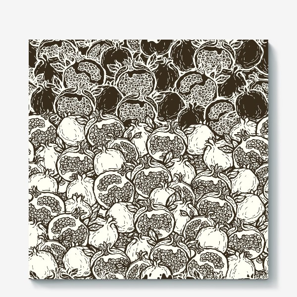 Холст «Graphic pomegranates»