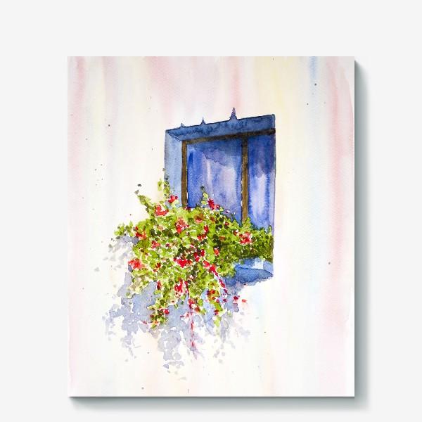 Холст «Окно во двор»