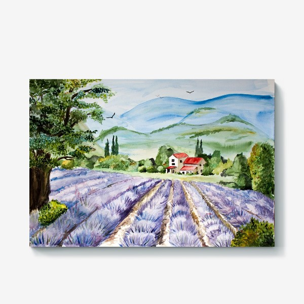 Холст «Лавандовое поле в Провансе»